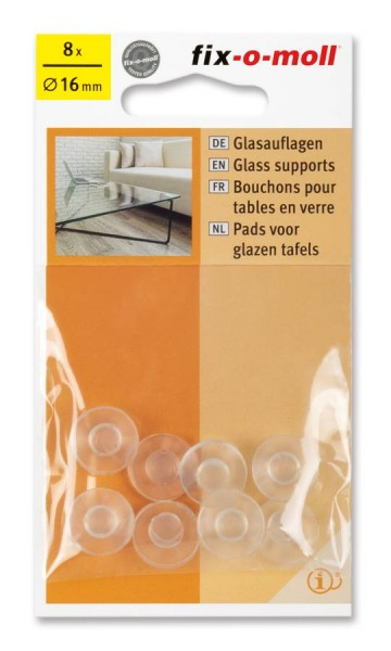Glasauflagen transparent fix-o-moll