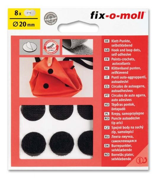 Klettpunkte fix-o-moll 20mm schwarz