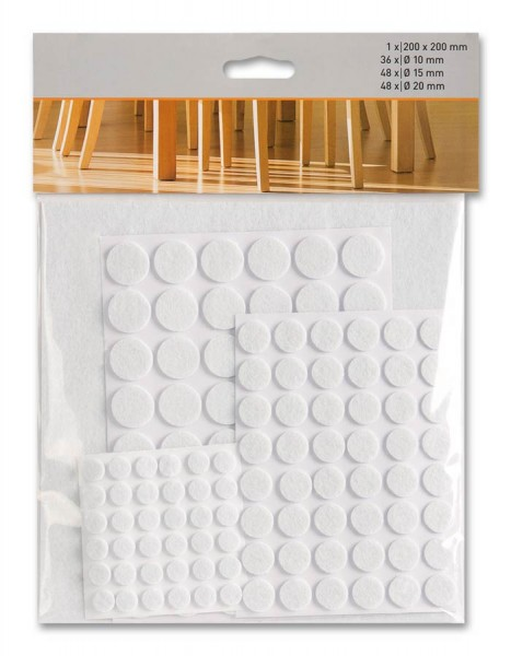 Möbelgleiter-Set weiß 133-teilig suki