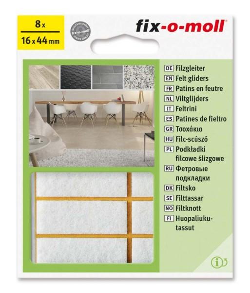 Filzgleiter selbstklebend fix-o-moll 16 x 44 mm weiß