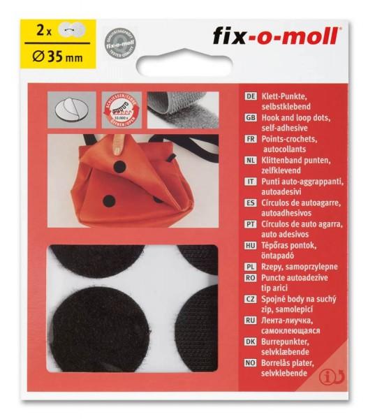 Klettpunkte fix-o-moll 35mm schwarz