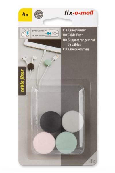 Kabelfixierer fix-o-moll pastellgrün-rosa-hellgrau-schwarz