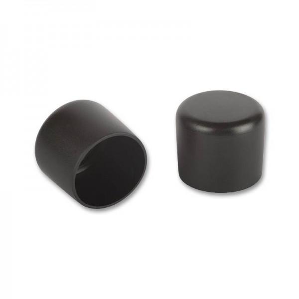 Rohrkappen rund 30 mm schwarz VE 20 fix-o-moll