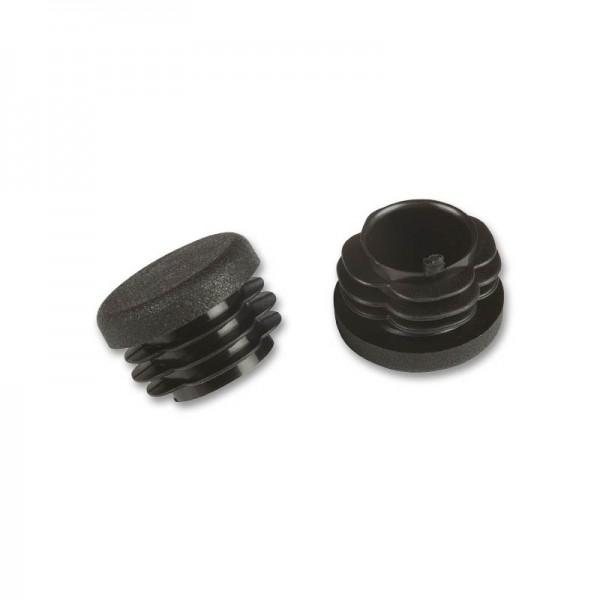 Rohrstopfen rund 20 mm schwarz VE 50 fix-o-moll
