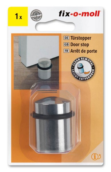 Türstopper fix-o-moll Metall vernickelt poliert 30-35mm x 44mm