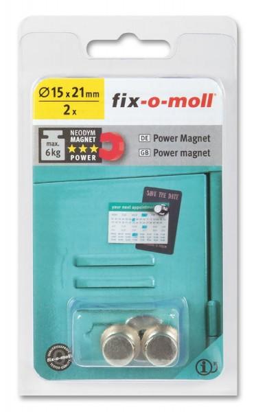 fix-o-moll Neodym Magnete Kegel 15mm silber