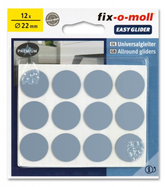 PTFE Universal Gleiter fix-o-moll selbstklebend rund 22 mm