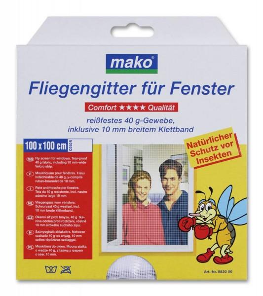 easy life Fliegengitter für Fenster 100 x 100cm weiß mako