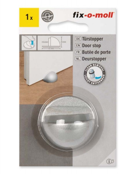 Türstopper Metall satiniert 45 mm x 25 mm fix-o-moll