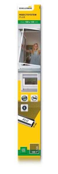 Insektenschutz-Fenster PLUS Schellenberg 100 x 120cm weiß
