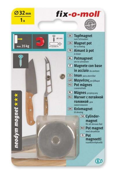 Topfmagnet Neodym fix-o-moll 32 mm