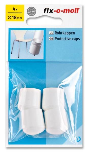 Rohrkappen fix-o-moll rund 18 mm weiß