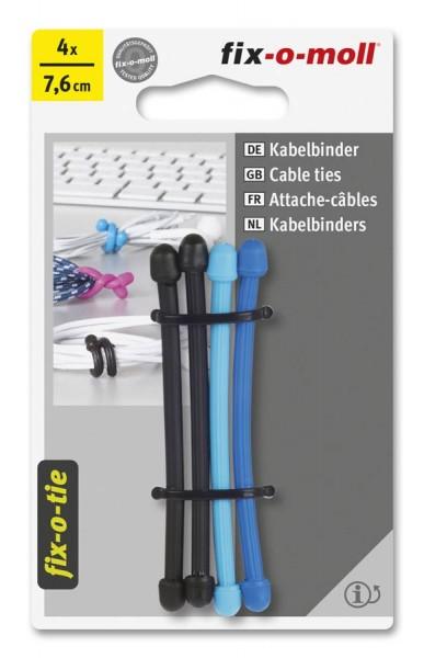 Kabelbinder lösbar fix-o-moll 76mm 3 Farben