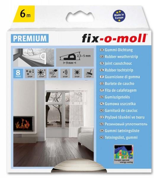 P-Profildichtung Gummidichtung fix-o-moll 6 m weiß