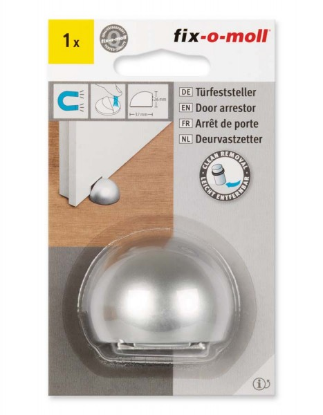 Türfeststeller silber Kunststoff magnetisch fix-o-moll
