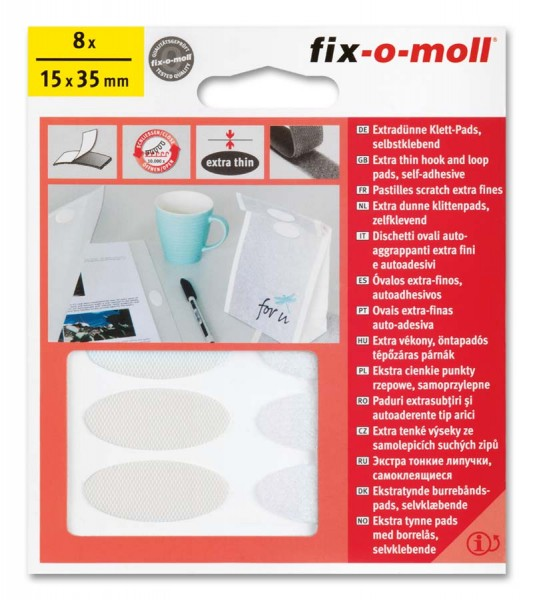 Klettpads oval fix-o-moll
