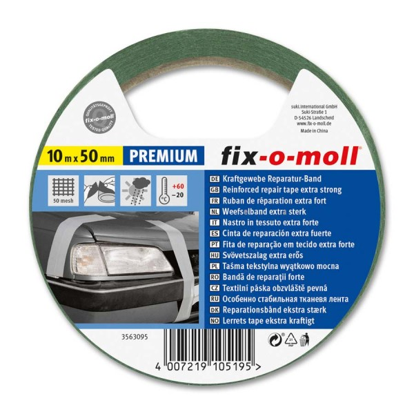 Reparaturband Panzerband fix-o-moll Premium grün 10m x 50mm