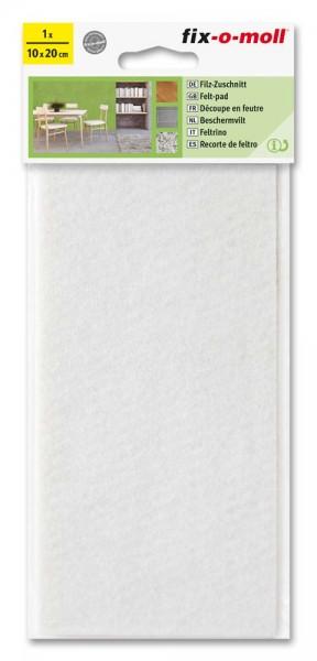 Filzzuschnitt selbstklebend fix-o-moll 200 x 100 mm weiß