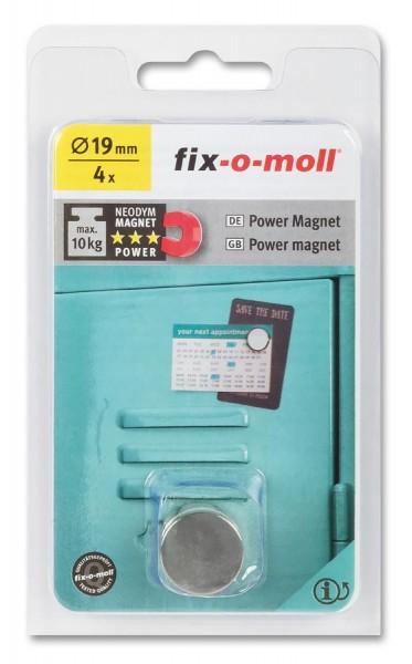 fix-o-moll Neodym Magnete Scheiben 19mm silber