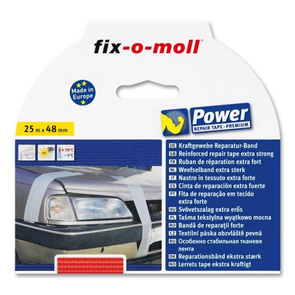 Reparaturband fix-o-moll Premium rot 25m x 48mm
