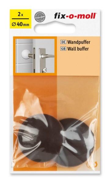 Wandpuffer rund 40mm braun fix-o-moll