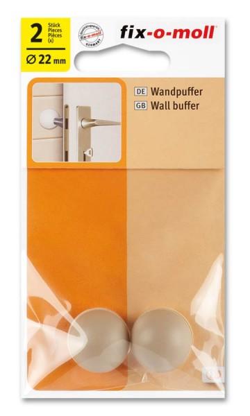 Wandpuffer rund 22mm beige fix-o-moll