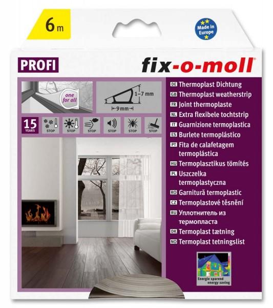 Thermoplast Dichtung fix-o-moll selbstklebend transparent 6 m