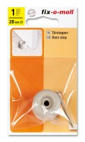 Türstopper fix-o-moll rund 28mm hellgrau