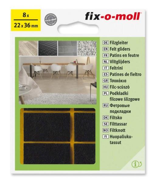 Filzgleiter selbstklebend fix-o-moll 22 x 36 mm braun