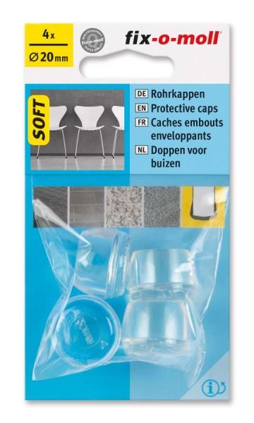 Rohrkappen Soft transparent 20 mm fix-o-moll