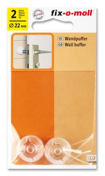 Wandpuffer rund 22mm transparent fix-o-moll