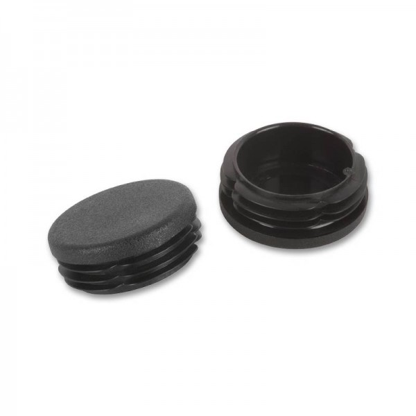 Rohrstopfen rund 40 mm schwarz VE 50 fix-o-moll