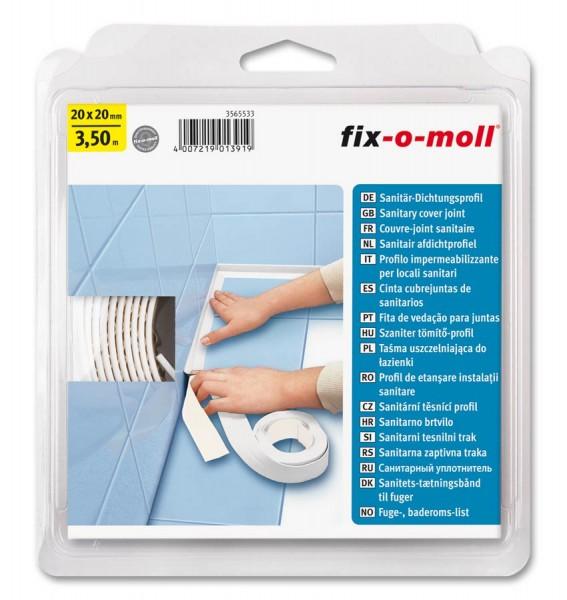 Sanitär-Dichtungsprofil fix-o-moll selbstklebend 20 x 20 mm