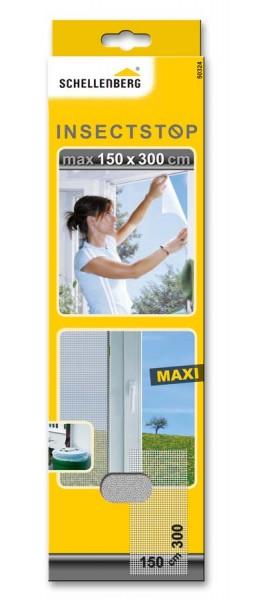 Fliegengitter Schellenberg MAXI für Fenster 150 x 300cm weiß