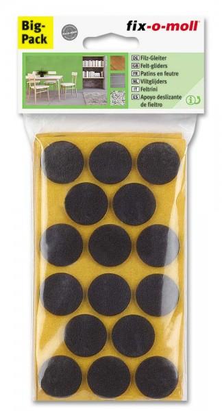 Filzgleiter selbstklebend fix-o-moll rund 28 mm Spar-Pack braun