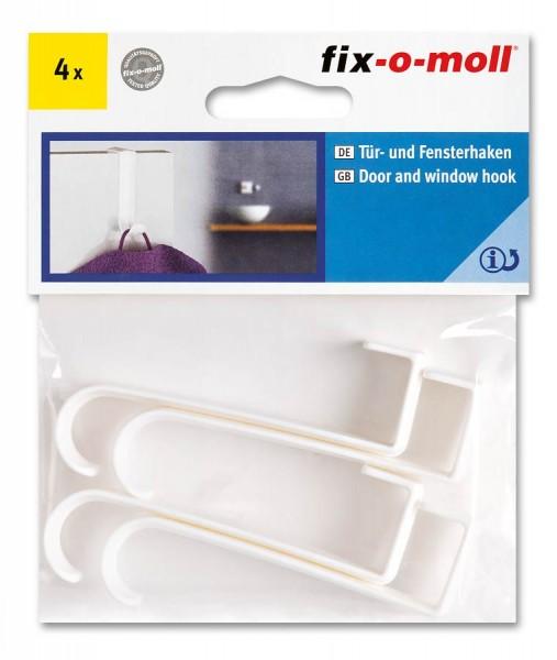 Türhaken Fensterhaken fix-o-moll Kunststoff