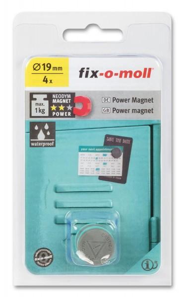 fix-o-moll Neodym Magnete Scheiben 19mm Silikon
