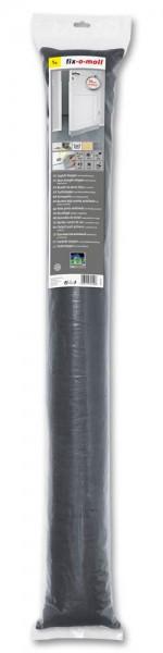 Zugluftstopper fix-o-moll anthrazit mit Klettbefestigung