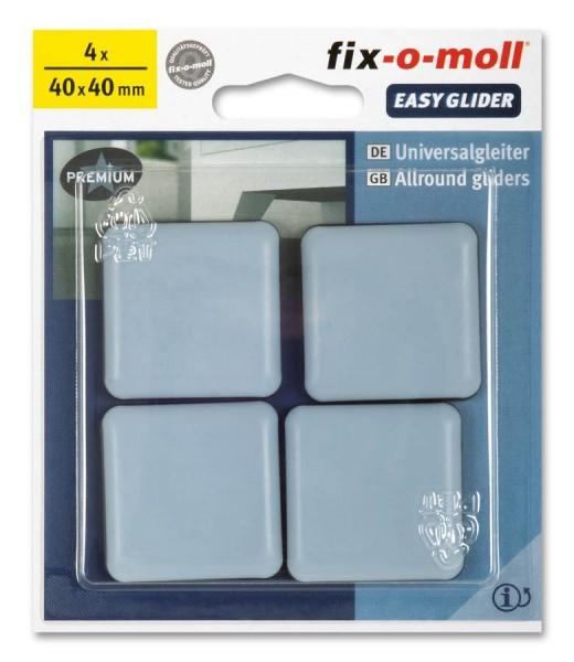 PTFE Universal Gleiter fix-o-moll selbstklebend 40 x 40 mm