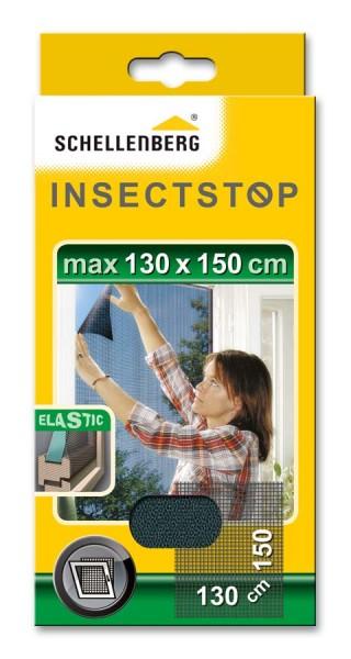 Fliegengitter Schellenberg für Fenster ELASTIC 130 x 150cm anthrazit