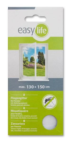 Fliegengitter für Fenster 130 x 150cm weiß easy life