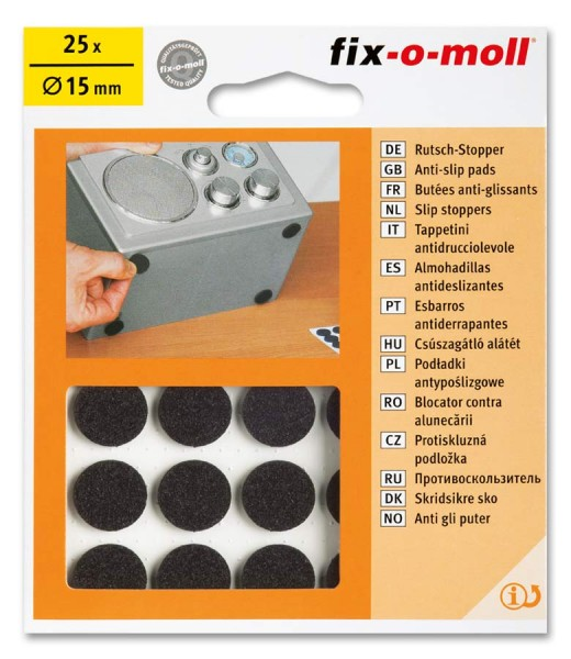Rutsch-Stopper rund 15mm fix-o-moll