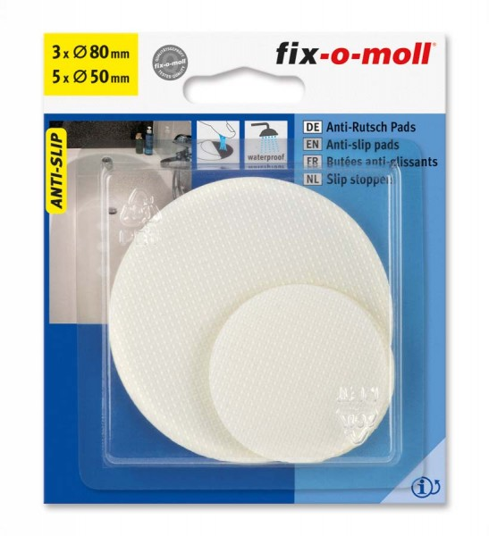 Anti-Rutsch Pads selbstklebend 50 und 80 mm fix-o-moll