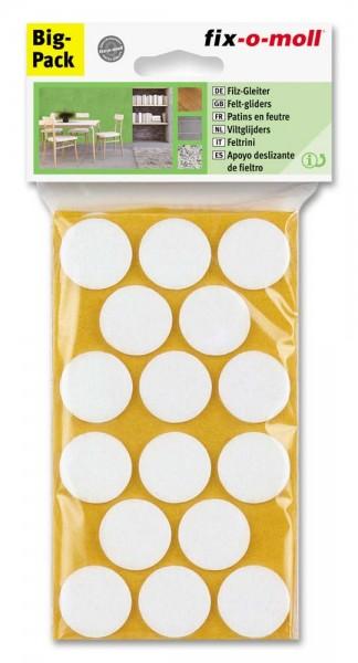 Filzgleiter selbstklebend fix-o-moll rund 28 mm Spar-Pack weiß