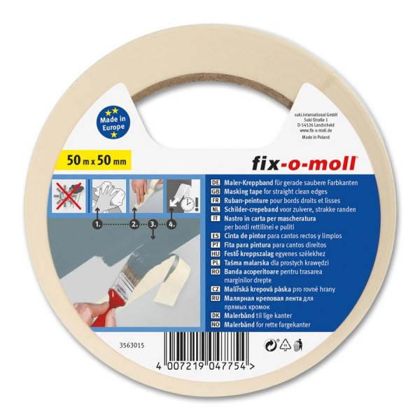 Kreppband Flachkrepp fix-o-moll 50m x 50mm
