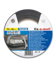 SUPER-SALE: Reparaturband fix-o-moll Premium schwarz 50m x 48mm