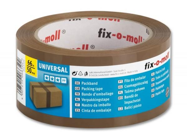 Packband Universal 66m x 50mm braun fix-o-moll