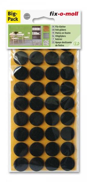 Filzgleiter selbstklebend fix-o-moll rund 22 mm Spar Pack braun