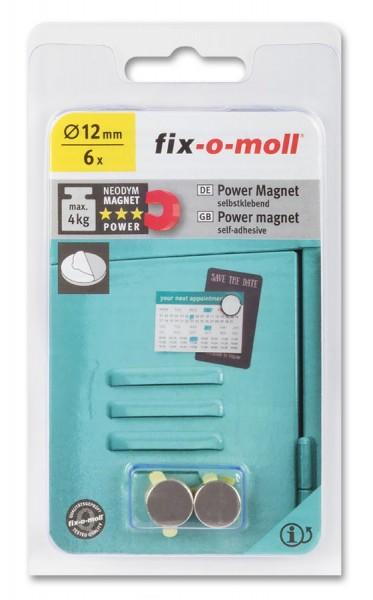 fix-o-moll Neodym Magnete Scheiben selbstklebend 12mm