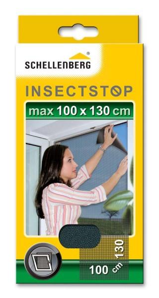 Fliegengitter Schellenberg für Fenster 100 x 130cm anthrazit
